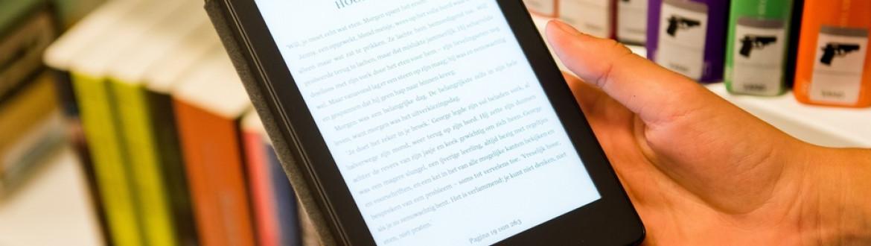 E-reader in de handen